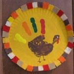 framed turkey handprint