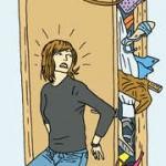 overflowing closet