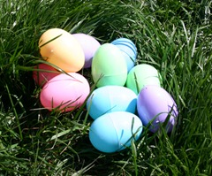 colorful plastic easter eggs