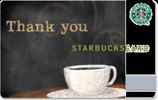 starbucks thankyou