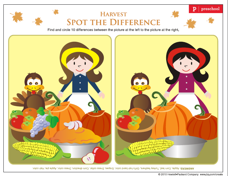 Kids Thanksgiving Placemats Activity Sheets South Shore Mamas – Spot the Difference Worksheets for Kindergarten
