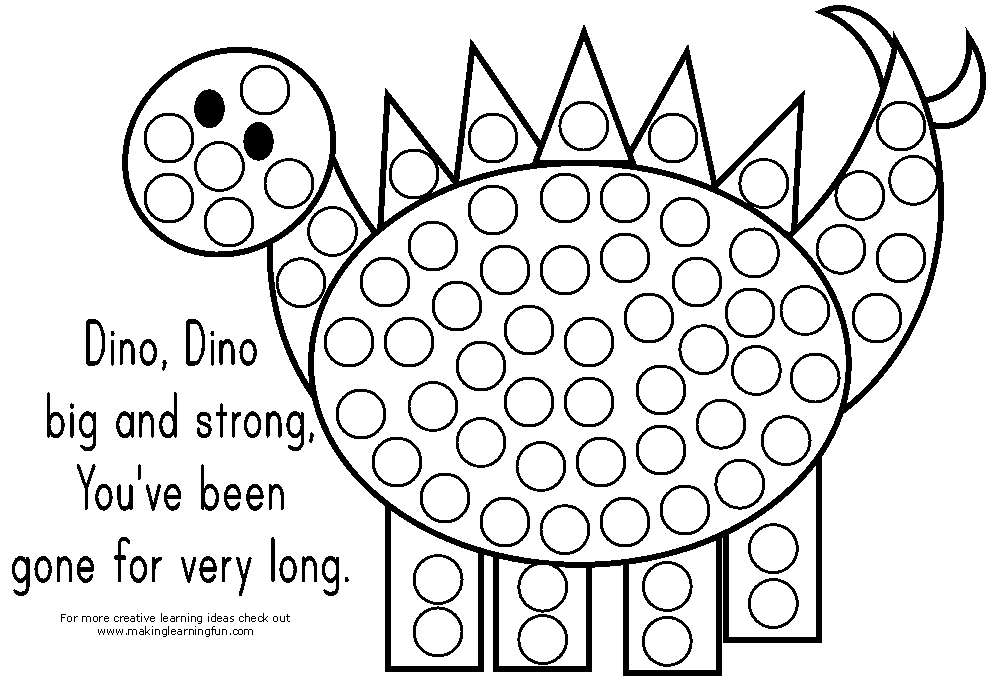 free dot coloring pages - photo#1