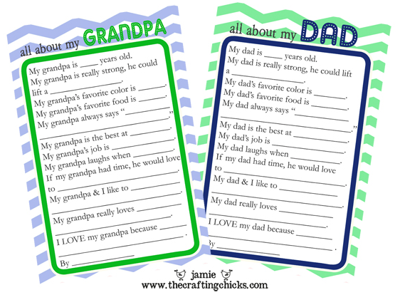 Have The Kids Fill Out A Questionnaire About Dad Or Grampa Their Answers Are Always Priceless Free Printable From Crafting Chicks