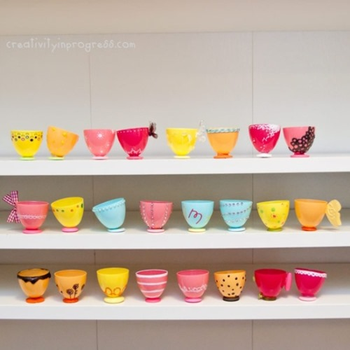 plastic egg teacups