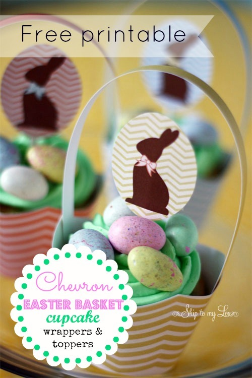 printable chevron easter wrappers