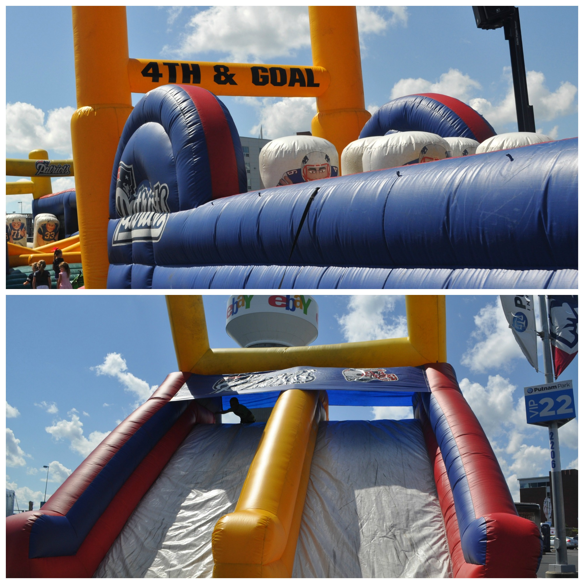 Pats Training Camp Inflatables