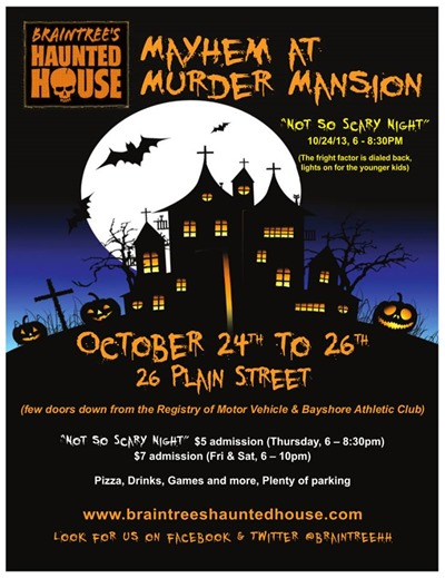 braintre haunted house flyer