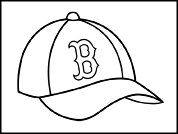 red sox coloring pages - red sox beard craft for kids south shore mamas