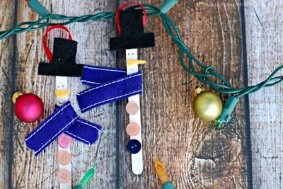craft stick snowmen