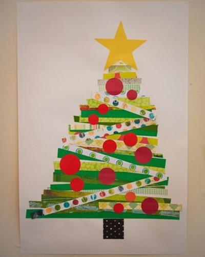 paper strip christmas tree