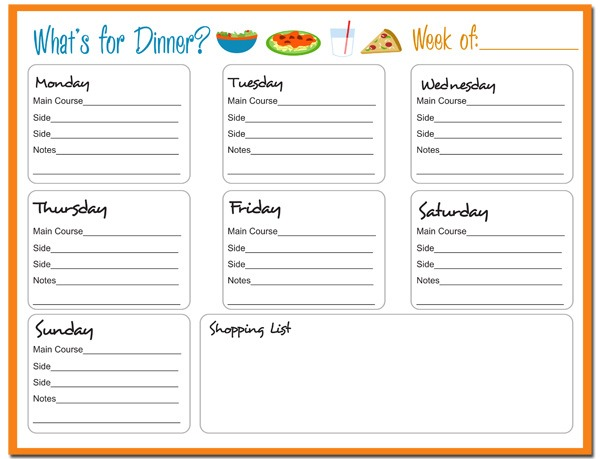 {Get Organized Part II} 15 FREE Meal Planning Printables ...
