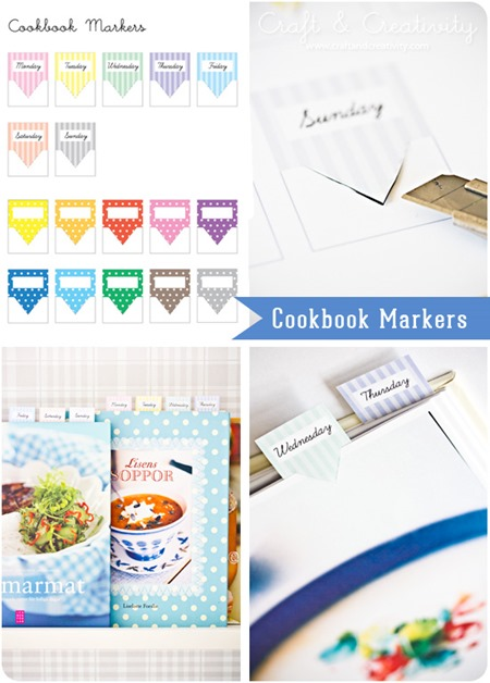 cookbook markers