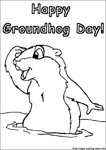 groundhog day coloring
