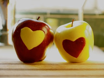 heart apples