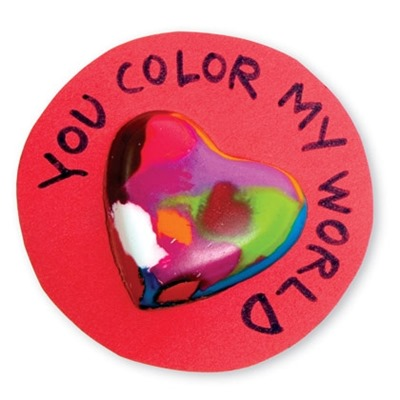 you are my world heart crayon valentine