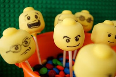 lego cake pop heads