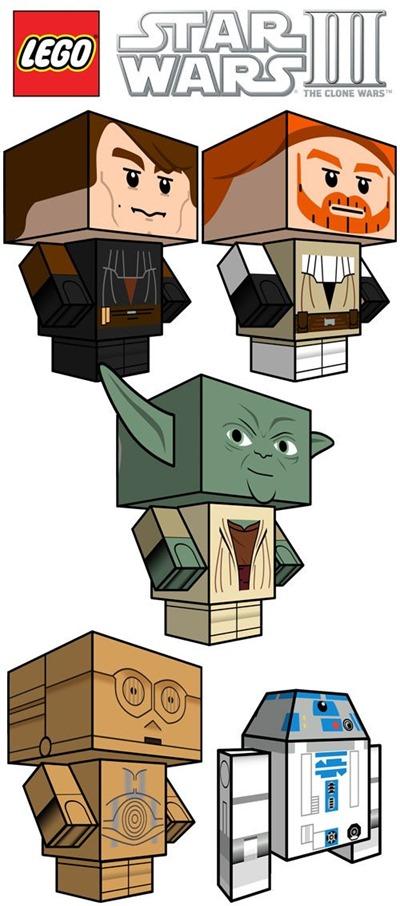 cube craft printable