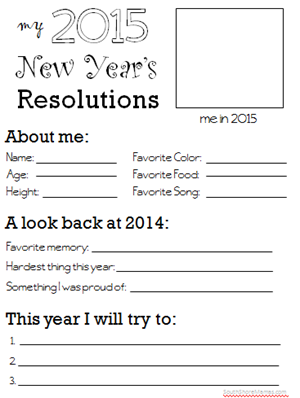 2015 new year s resolutions worksheet for kids south shore mamas. Black Bedroom Furniture Sets. Home Design Ideas