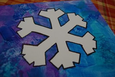 painted snowflake art