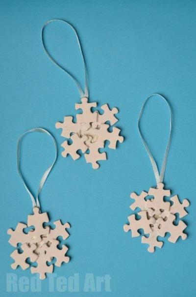 puzzle piece snowflake