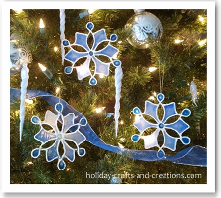 stained glue snowflakes