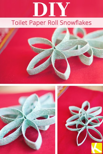 20 snowflake craft ideas for kids south shore mamas for Snowflake out of toilet paper rolls