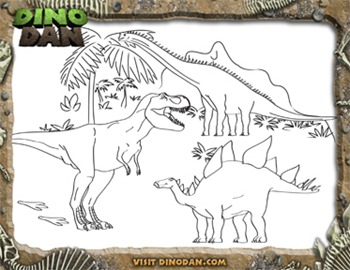 dinosaur dan coloring pages coloring pages. Black Bedroom Furniture Sets. Home Design Ideas